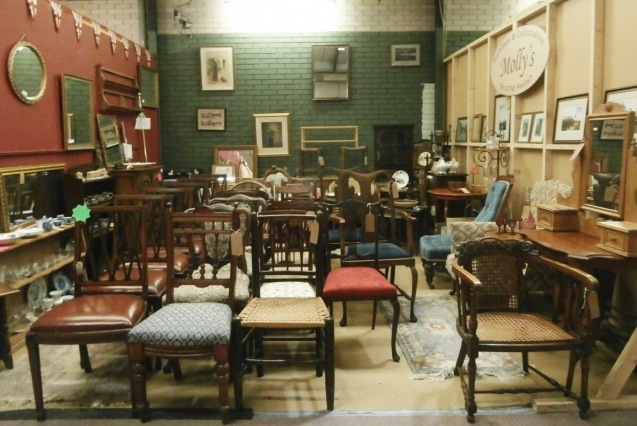 Chair display at GB Antiques Centre
