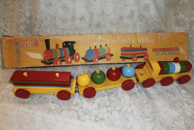 Wooden Pull Along Train