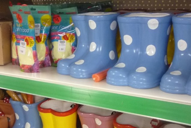 Novelty Flower pots at The Original Factory Shop