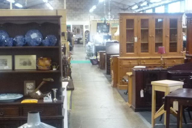Just one of the long aisles at GB Antiques Centre